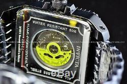 New Invicta Men's 45mm Cuadro Silver Dragon Black Plated Automatic Watch