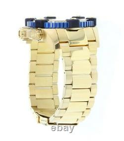 New Invicta Mens Reserve Grand Arsenal Watch 18K Gold Plated MOP Chrono 80186