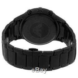 New Mens Emporio Armani Black Ion Plated Watch Ar2453 Rrp £399.00