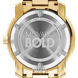 New Movado Bold Champagne Dial Yellow Gold-plated Men's Watch 3600258