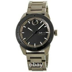 New Movado Bold Day Date Khaki Ion-plated Steel Men's Watch 3600511