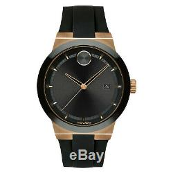 New Movado Bold Fusion Bronze Ion-Plated Rubber Strap 42mm Mens Watch 3600622