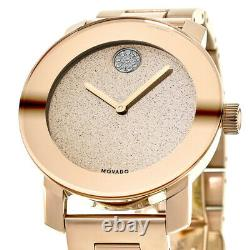 New Movado Bold Rose Gold Ion-Plated 36mm Women's Watch 3600335