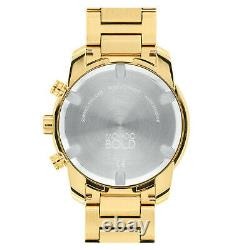 New Movado Bold Verso Yellow Ion-Plated Steel Bracelet Mens Watch 3600741