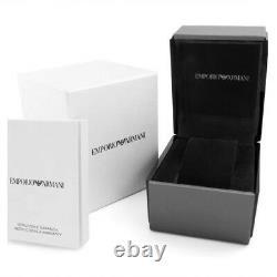 New Original Emporio Armani Black Ion Plated Chronograph Watch Ar2453 Rrp £389