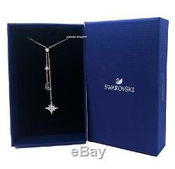New SWAROVSKI Rose Gold Crystals Symbolic Moon & Stars Pendant Necklace 5494357