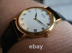New Superb Men's Seiko Gold Plated Slim V700-6K30 Santos Boxed Watch