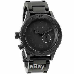 Nixon 42-20 Tide Ion Plated Black Men's Dive Watch with Rotating Bezel