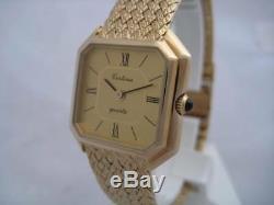 Nos New Quartz Swiss Elegant Gold Plated Certina Women's Watch 1980's