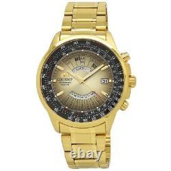 Orient Perpetual Calendar FEU07004UX Gold Dial Gold Plated Men's Watch