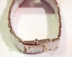 Pandora Genuine Gold Plated White Ceramic Watch With Diamond 812022wh