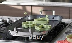 Princess House Stainless Steel Culinario Healthy Nonstick Double Griddle #6979