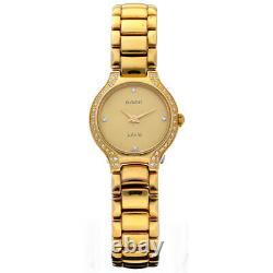 Rado Jubile R48804713 Gold Plated Steel 23mm Diamond Quartz Women's Watch