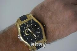 SUPER RARE/NEW Invicta 0745 Reserve 18K Gold Plated Swiss Men's Watch + Strap