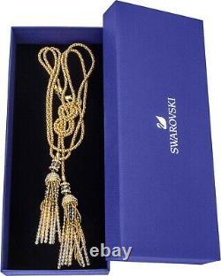SWAROVSKI Millenium 23k Yellow Gold-Plated Black Swarovski Crystal Necklace