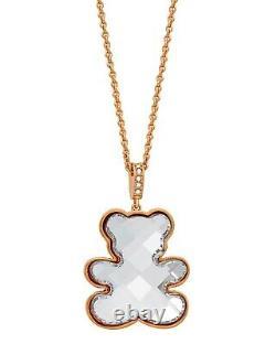 SWAROVSKI Teddy 18k Rose Gold-Plated Clear Swarovski Crystal Pendant Necklace