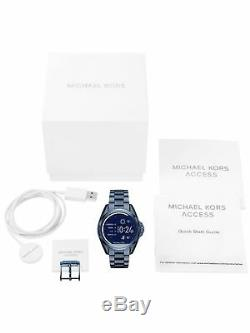 Sealed Michael Kors Access Unisex Bradshaw Blue Ion-Plated Smart Watch MKT5006