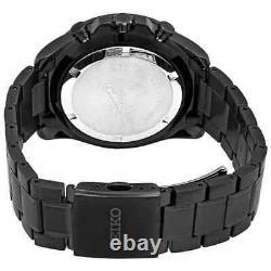 Seiko Men's Chronograph Quartz Black Dial Black-plated Watch SSB311P1 NEW