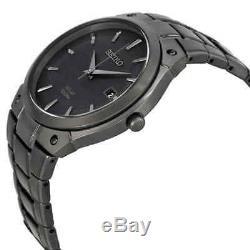 Seiko Solar Black Sunray Dial Black Ion-plated Men's Watch SNE325