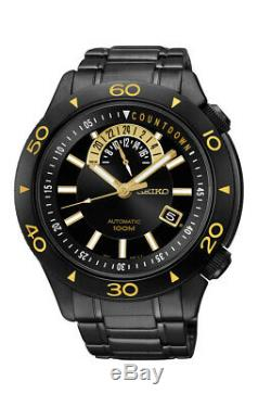 Seiko Superior Automatic Black Dial Black Ion-plated Stainless Steel Mens Watch