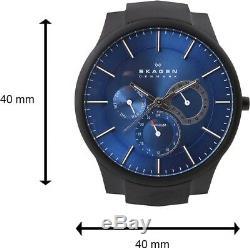 Skagen Men's Black Plated Titanium Slim Blue Dial Watch 809XLTBN