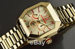 Stunning Aragon Concept S Men's 46mm GOLD Ion Plated AUTOMATIC Watch A271GLD