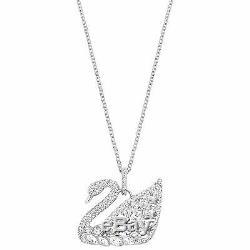 Swan Lake Crystal Pendant Necklace Rhodium Plate 2016 Swarovski Jewelry 5169080
