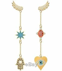 Swarovski 5451268 Lucky Goddess Yellow Gold Plated Pierced Earrings RRP$179
