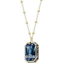 Swarovski 5482977 Tarot Magic Pendant Blue Gold Tone Plated RRP$299