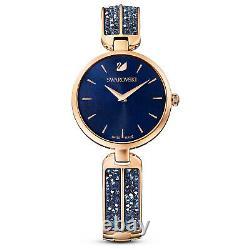 Swarovski 5519317 Dream Rock Watch, Blue/Rose-Gold Plated 30CM RRP$499