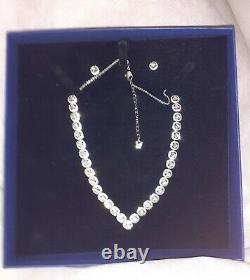 Swarovski Angelic Square Rhodium Plated Necklace & Earring Set 5364318