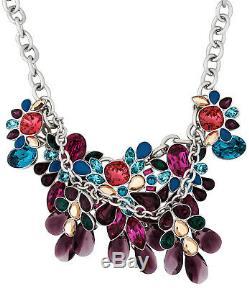 Swarovski Cardinal Multicolor Crystals Rhodium Plated Necklace for Women 5113430