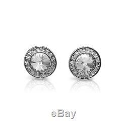 Swarovski Crystal Angelic Earrings Rhodium-Plated Silver Earrings RRP £49