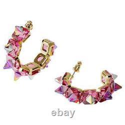 Swarovski Crystal Chroma Hoop Earrings Pink, Gold-Tone Plated 5600895