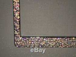 Swarovski Crystals 100% AB Aurora Borialis Crystal Bling License Plate Frame