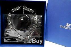 Swarovski Fit V Necklace, Gray, Ruthenium plating, Crystal Authentic MIB 5363515