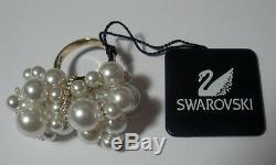 Swarovski Silver Crystal Jewelery Donatella Ring Size 55 910000 Gold Plate