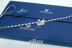 Swarovski Swan Lake Bracelet, White Rhodium-Plated Crystal Authentic MIB 5379947