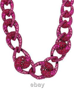 Swarovski Tabloid Pink Lacquer-Plated Pink Crystal Necklace 5410988