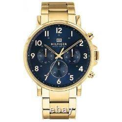 Tommy Hilfiger Daniel Yellow Gold Plated Day Date Mens Watch 1710384