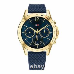 Tommy Hilfiger Gold Plated Case Blue Strap Multi-Function Womens Watch 1782198
