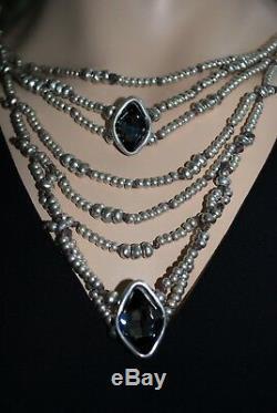 Uno De 50 Swarovski Crystal Silver Plated Bead Harmonic Necklace Nwt