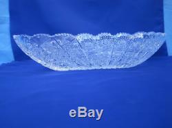 Vintage Bohemia Queen Lace Hand Cut 24% Lead Crystal Diamond Plate 17 Nib