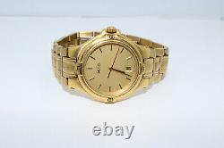 Vintage Gucci 9240M Gold Plated Quartz Date Watch New Battery
