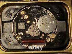 Vintage Longines Q. W. R Gold Plated Diamonds Quartz Unisex Watch