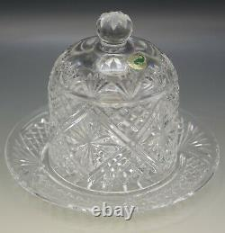 Waterford Crystal Ws 2000 Samuel Miller Dessert Dome Butter Cheese Dish Nib