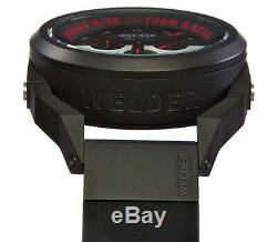 Welder by U-boat K36 Chrono Black Ion-Plated Mens Watch Rubber Strap K36-2401