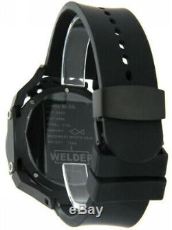 Welder by U-boat K36 Chronograph Ion-Plated Mens Watch Rubber Strap K36-2402