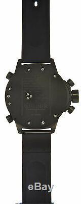 Welder by U-boat Triple Time Zone Chrono Black Ion-Plated Mens Watch K37-6501