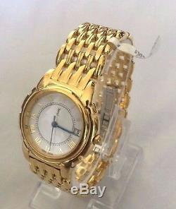 YSL YVES SAINT LAURENT Women's 23K Gold Plated Swiss Watch Y2022 White Dial